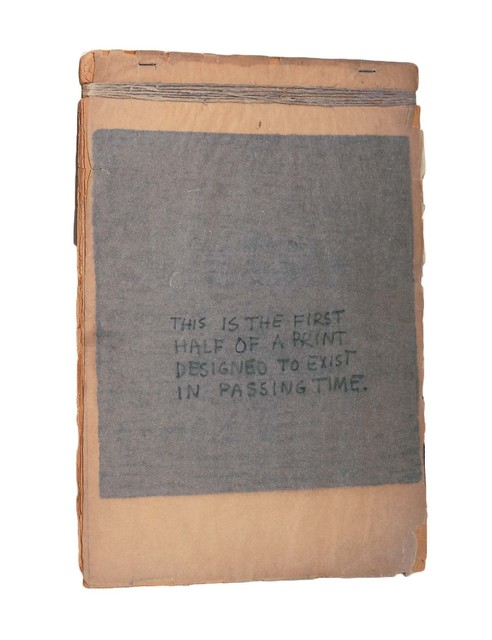 Robert Rauschenberg, 'This Is the First Half of a Print Designed to Exist in Passing Time', 1948, Robert Rauschenberg Foundation