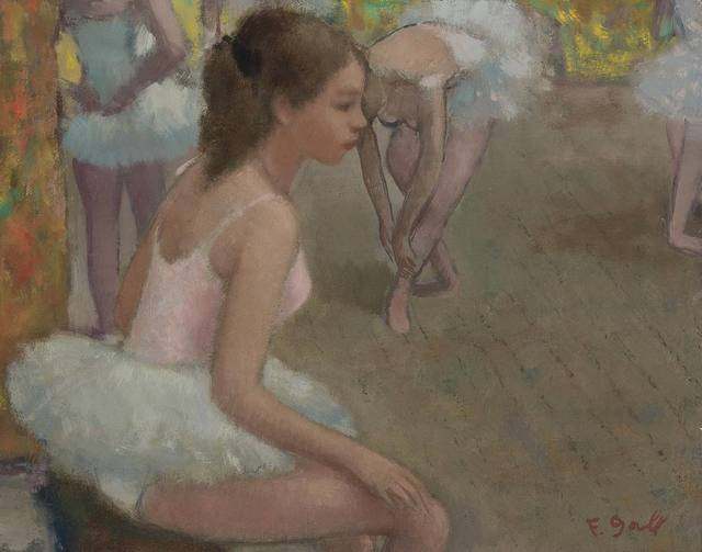 Francois Gall, 'Ballet Rehearsal', Painting, Oil on canvas, Doyle