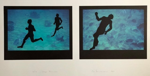 """Eve Sonneman, 'Large Diptych """"Deep runners"""" Photograph Signed Surrealist Photo Lithograph', 1990-1999, Lions Gallery"""