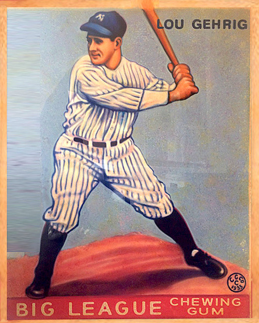 , '1933 Goudey Lou Gehrig,' 2017, Axiom Contemporary