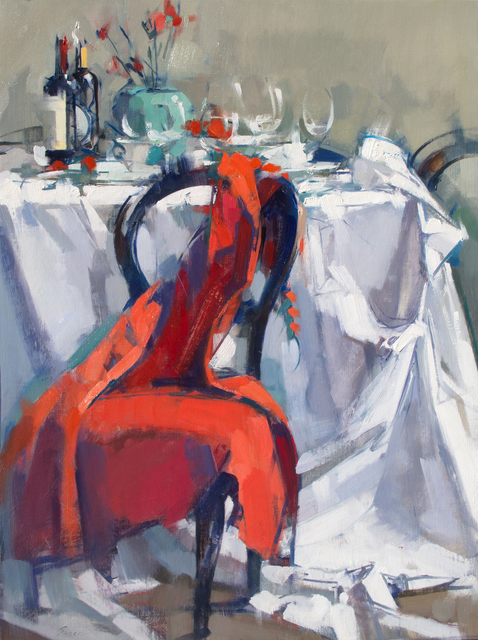 , 'Long Red Dress on Chair,' 2016, J. Cacciola Gallery