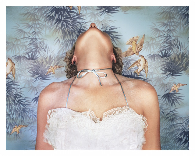 Jo Ann Callis, 'Woman with Blue Bow', 1977-printed 2011, Print, Archival pigment print, The Watermill Center Benefit Auction