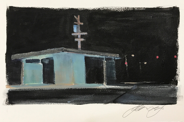 , 'Study for The Church,' 2018, Somerville Manning Gallery