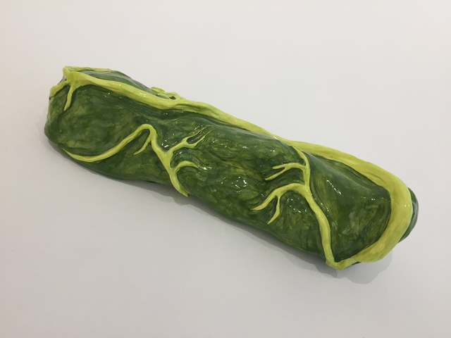 , 'Cucumber on Steroids,' 2015, Burning in Water
