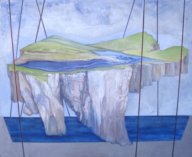Aleksandar Popovic, 'Suspended Land II', 2015, Painting, Oil and wax on linen, Mizuma & Kips