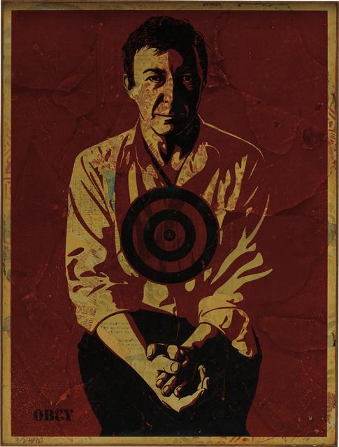Shepard Fairey (OBEY), 'Jasper Johns Red', 2010, Phillips