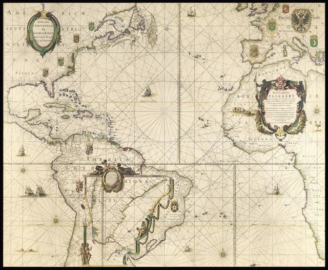 , 'West Indische Paskaert... Gedruckt t'Amsterdam Bij Jacobus Robyn, inde Nieuwe Brugh steeg inde Stuurman.,' [c1630-1674], Daniel Crouch Rare Books