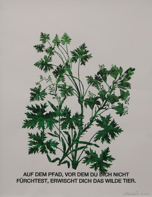 , 'Blattstaude mit Feuerlilie (grün),' 2015, Galerie Crone