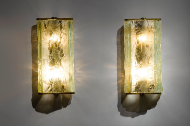 , 'Pair of wall sconces,' ca. 1930, DeLorenzo Gallery