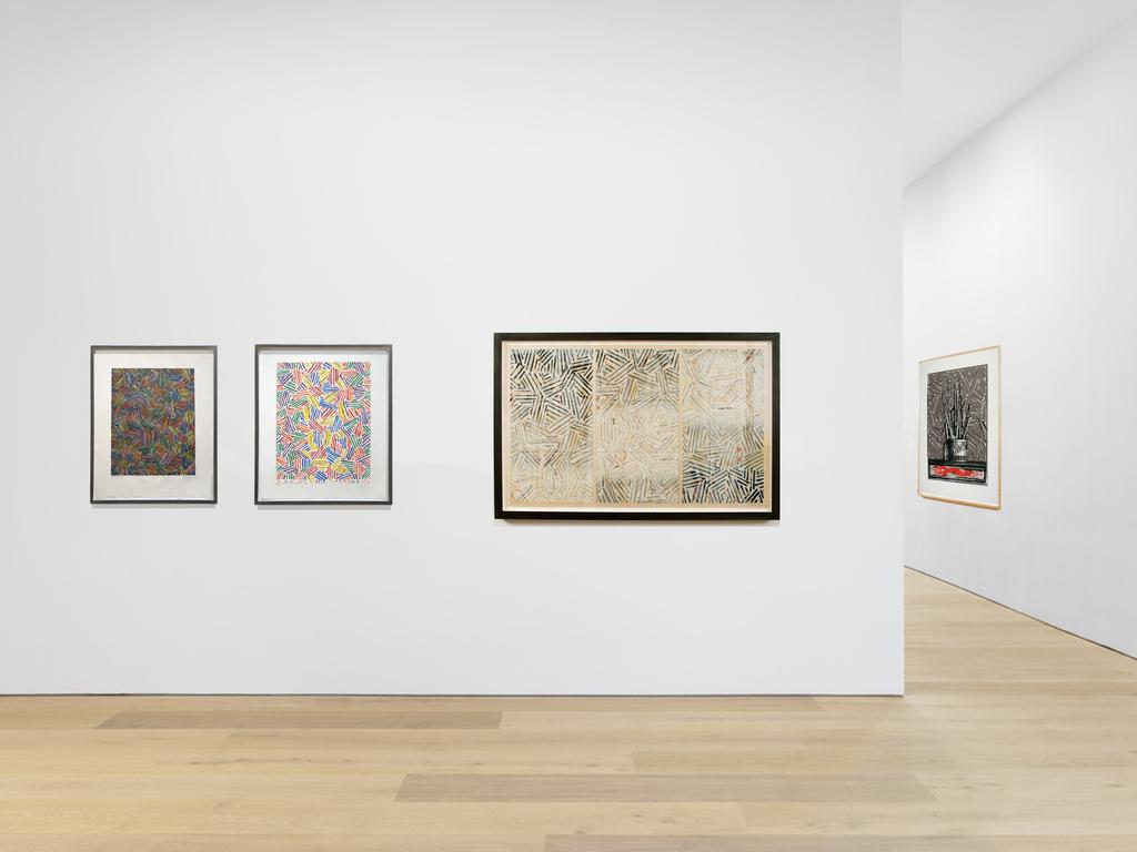 4 Jasper Johns works: Cicada II,  Cicada I, Usuyuki & Savarin EM available from Joseph K. Levene Fine Art, Ltd.