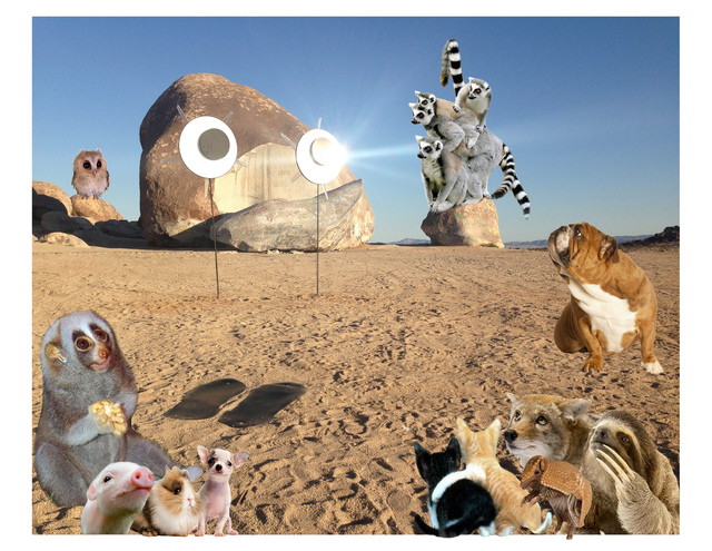 , 'Googly Eyes, With Animals,' 2017, Klowden Mann