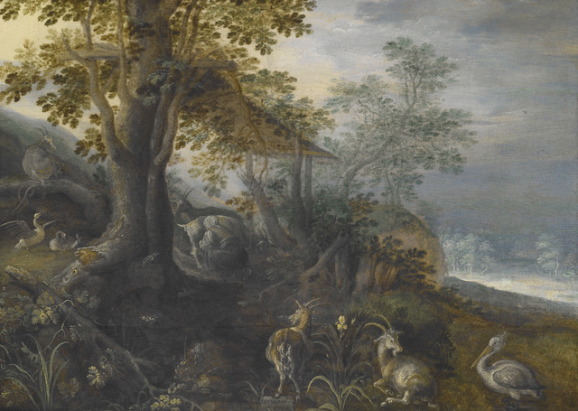 Roelandt Savery, 'Landscape with Animals', ca. 1610, Indianapolis Museum of Art at Newfields