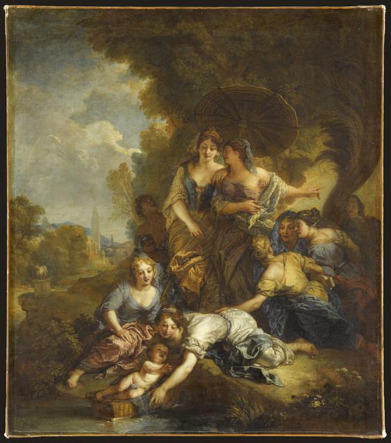 , 'Moïse sauvé des eaux (The Finding of Moses),' 1701, Château de Versailles