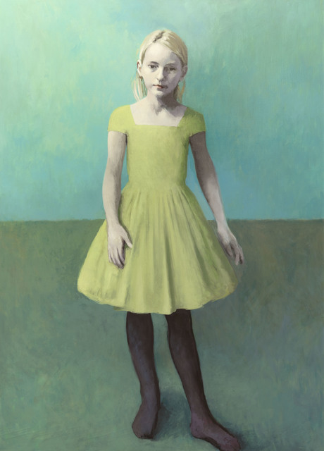 , 'Girl With Pale Hair and a Pale Green Dress,' 2018, Flowers