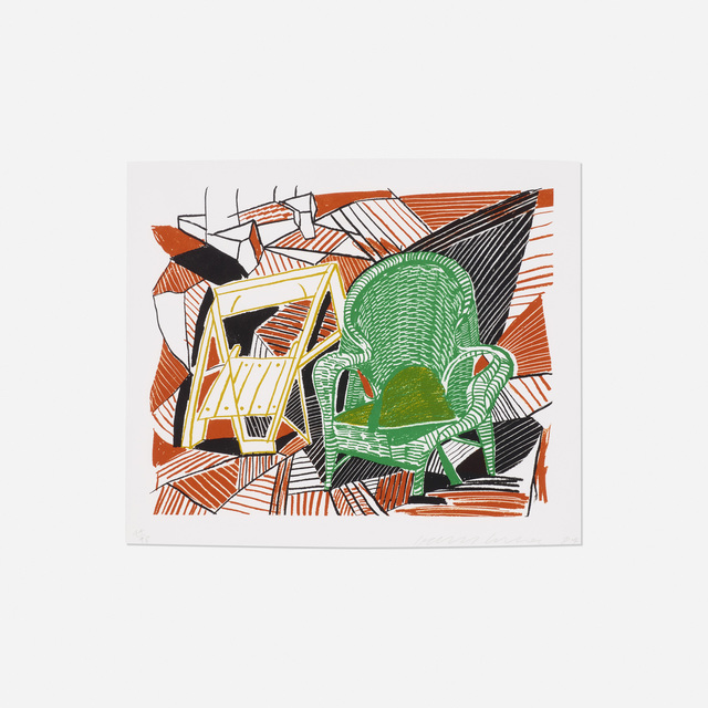 David Hockney, 'Two Pembroke Studio Chairs (from The Moving Focus series)', 1984, Rago/Wright