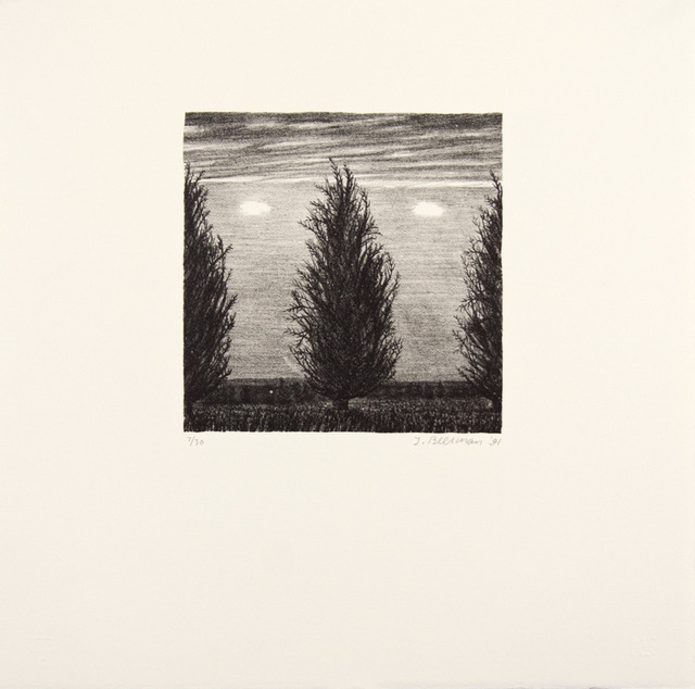 , 'Three Trees, Two Clouds,' 1990, Tamarind Institute
