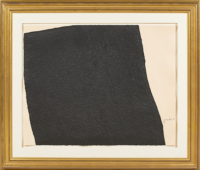 Richard Serra, 'Hreppholar III', 1991, Drawing, Collage or other Work on Paper, Intaglio construction in black on Fuji Kozo DHM-14 and Meirat Velasquez handmade papers (framed), Rago/Wright