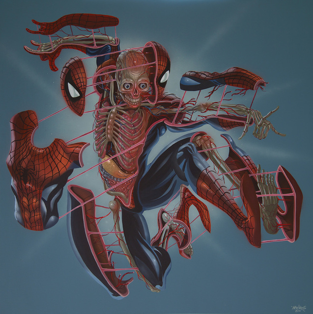 , 'Dissection of Spiderman,' 2016, Jonathan LeVine Projects