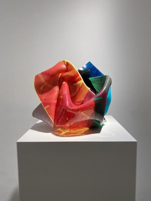 Paul Schwer, 'BAOZI FLUO 30-10/20-1', 2020, Sculpture, Pigmente, Siebdruck und Siebdrucklack auf farbigem Plexiglas, Galerie Wolfgang Jahn