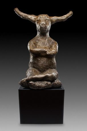 , 'Contemplating Bull with base (Gold Patina),' , ÆRENA Galleries and Gardens