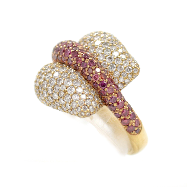 , 'White and Purple Diamond Gold Ring,' , form & concept