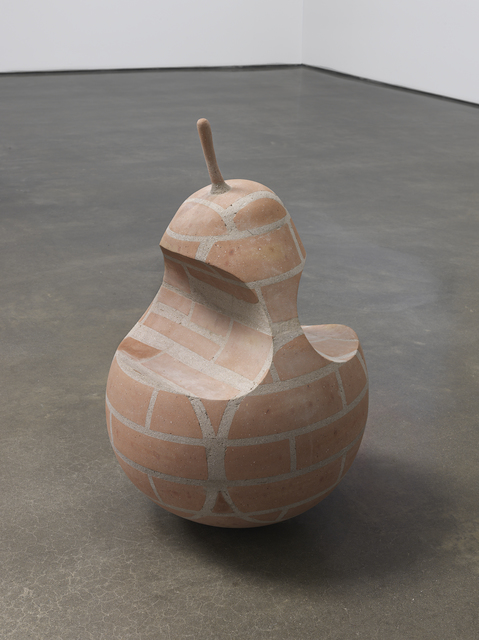 Judith Hopf, 'A pear with two bites', 2019, Sculpture, Bricks, cement, Metro Pictures
