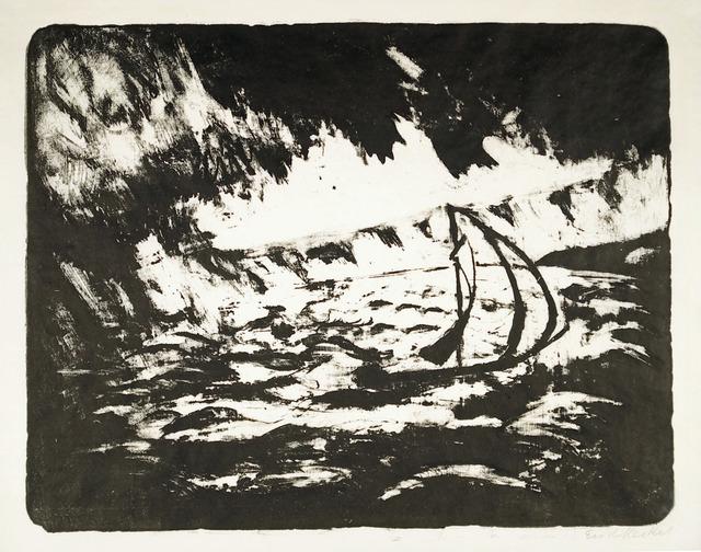 , 'Boot mit Regenbö,' 1922, Henze & Ketterer