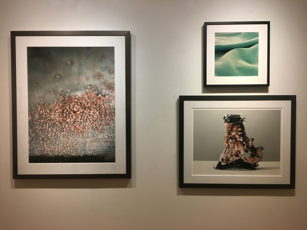 "L to R: ""Cluster"" by Brian Lane, ""Motel Blanket"" by Morgan Cohen, ""Fifth Ave"" by Charles Shotwell"