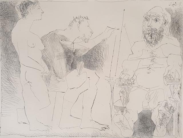 Pablo Picasso, 'Painter At Work (Peintre Au Travail)', 1963, Baterbys