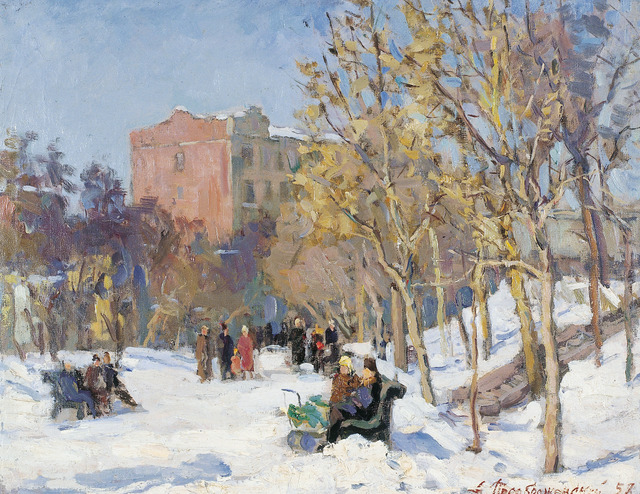 , 'Early snow,' 1958, Surikov Foundation