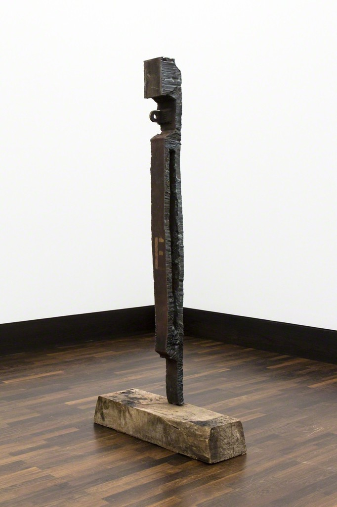 Max Frisinger, ohne Titel (F), 2015, steel, wood, 180 x 82 x 25 cm
