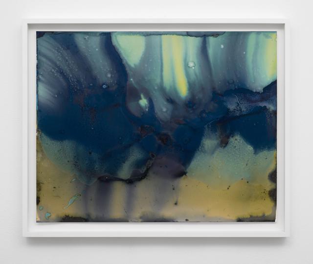 Meghann Riepenhoff, 'Ecotone #856 (Big Creek, WA 03.08.20, Snowfall and Melt)', 2020, Photography, Dynamic cyanotype, Lora Reynolds Gallery