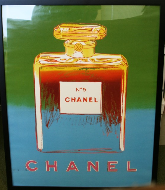 Andy Warhol, 'Chanel No. 5 (Green and Blue) Advertising Poster', 1997, Washington Color