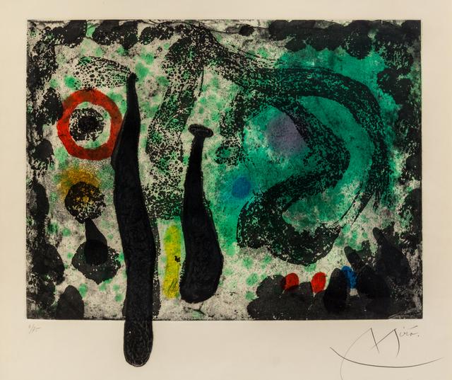 Joan Miró, 'Le jardin de mousse', 1968, Hindman