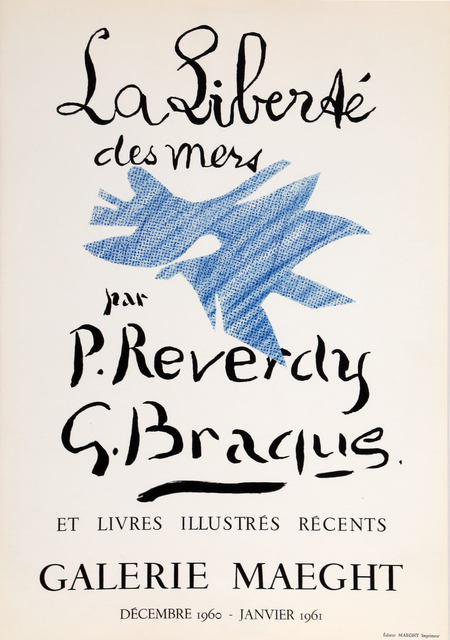 Georges Braque, 'Galerie Maeght - La Liberte des Mers', 1960, RoGallery