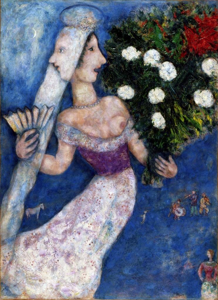 Marc Chagall, 'The Bride with Two Faces (La mariée à double face),' 1927, Dallas Museum of Art