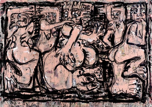 , 'Rituals (bumba and belfie pink),' 2016, Saatchi Gallery