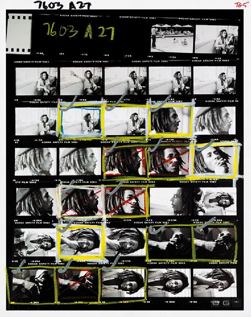 , 'Contact Sheet - Bob Marley at home (Tuff Gong) in Kingston, Jamaica,' 1976, Anastasia Photo