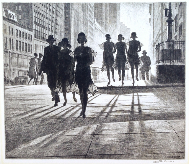 ", '""Shadow Dance"",' 1930, Catherine E. Burns Fine Prints"