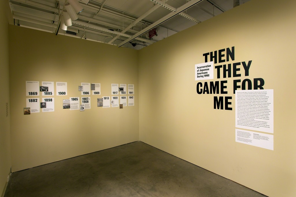 Then They Came for Me: Japanese American Incarceration during World War II, installed at the International Center of Photography, New York, New York. Photo by John Halpern.