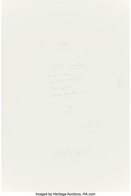 Irving Penn, 'Cuzco Children, Peru, December', 1948, Photography, Platinum-palladium, flush-mounted to aluminum, 1978, Heritage Auctions