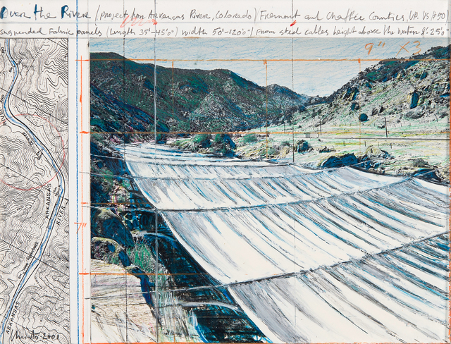 , 'Over the river Project for Arkansas River, State of Colorado,' 2001, Repetto Gallery