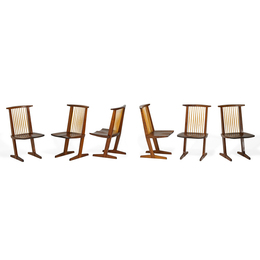 Set of six Conoid chairs, New Hope, PA