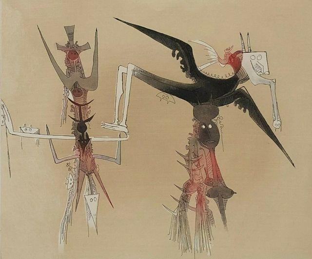 Wifredo Lam, 'Sans titre - XXe siecle plate #4', 1977, Kunzt Gallery