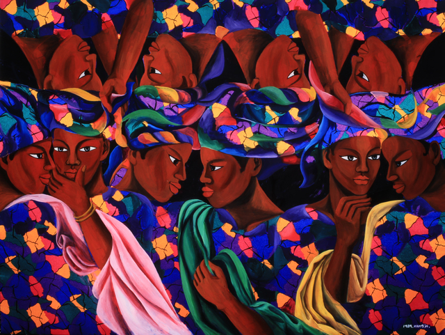 , 'The Women in a Clothes Market (Gambia),' 1989, Arario Gallery