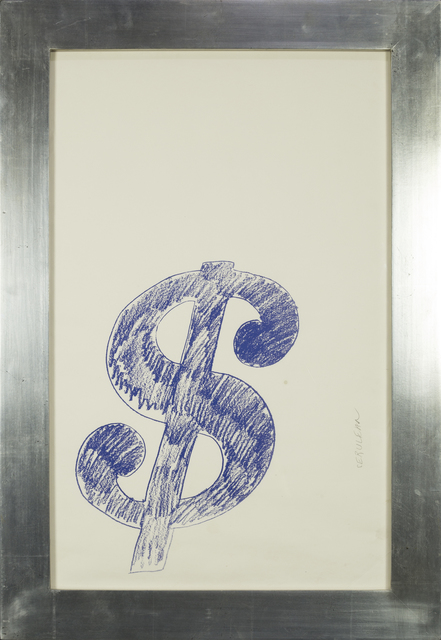 Andy Warhol, '$ Sign (Blue) - 1982', 1982, Rudolf Budja Gallery