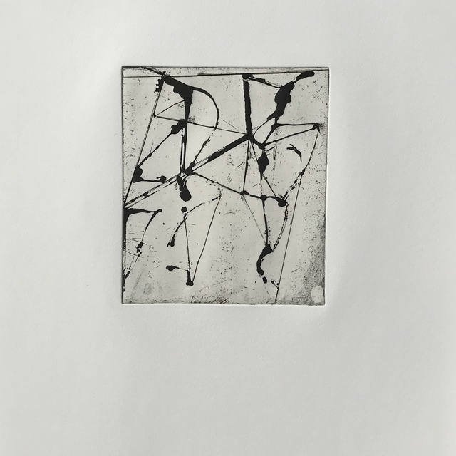, 'Etching to Rexroth #10,' 1986, inde/jacobs