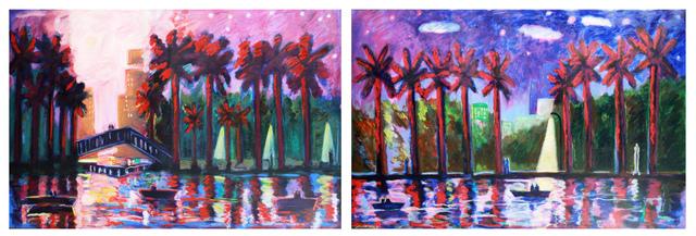 , 'Mystery in the Park I, Mystery in the Park II,' 1989, Robert Berman Gallery
