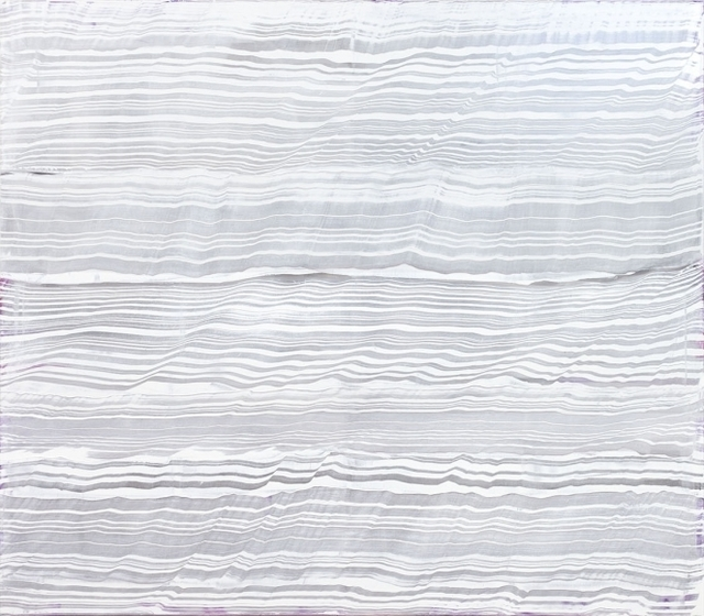 , 'White Over Violet 2,' 2016, Heather Gaudio Fine Art
