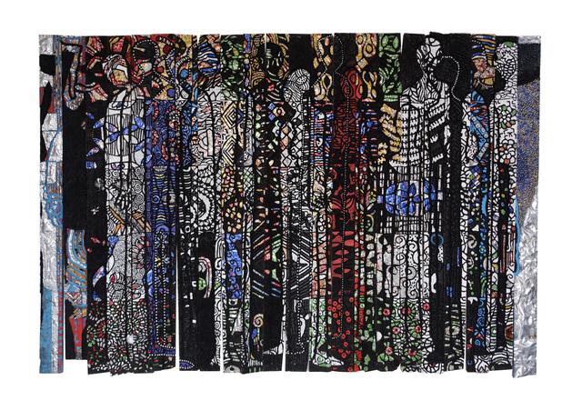Gerald Chukwuma, 'People's Paradise', 2017, Painting, Mixed Media On Wood Panel, Belvedere Art Space